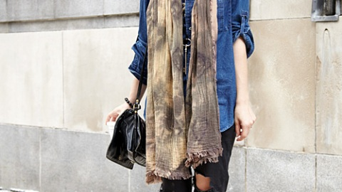 Street Style New York: Singing The Blues   StyleCaster
