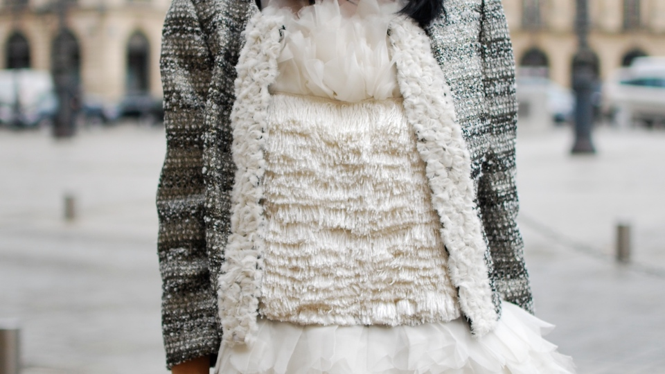 Street Style: Winter Whites And Paris Lights   StyleCaster