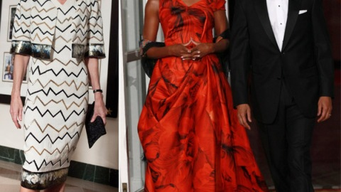 Michelle Obama Vs. Anna Wintour: State Dinner Style Standoff | StyleCaster