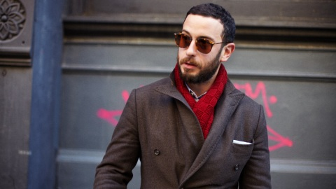 Street Style New York: Camo Meets Red | StyleCaster