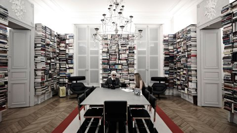 Karl Lagerfeld's Studio Is Just As Amazing As You'd Imagine | StyleCaster