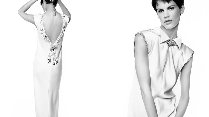 Karl Lagerfeld Shoots Chanel Cruise 2012 In Black & White