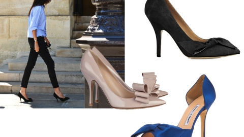 10 Pretty Pairs Inspired by Emmanuelle Alt's Bow Shoes | StyleCaster