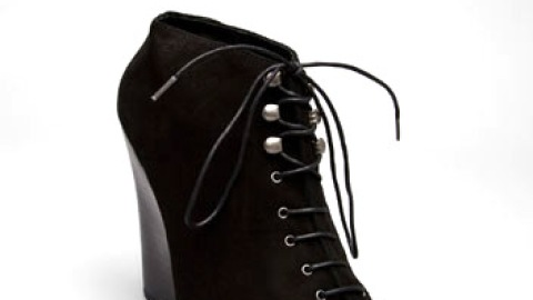 Dolce Vita Lace Up Black Kid Suede Booties | StyleCaster