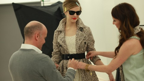 Exclusive Behind the Scenes with Banana Republic and Mad Men | StyleCaster