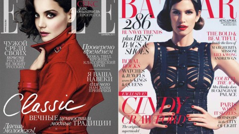 Cover Wars: Katie Holmes Vs. Cindy Crawford as Screen Sirens | StyleCaster