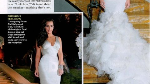 Check Out All Of Kim Kardashian's Wedding Dresses Here! | StyleCaster