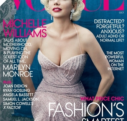 Michelle Williams Styled As Marilyn Monroe for Vogue Cover