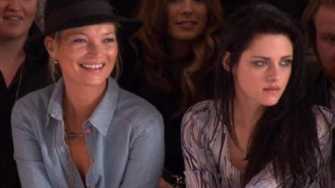 Kristen Stewart, Kate Moss Spotted at Mulberry LFW Show | StyleCaster
