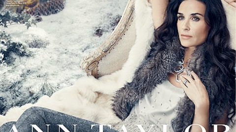 Demi Moore Appears In Ann Taylor Holiday Campaign | StyleCaster