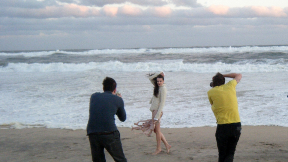 Behind the Scenes: Apparition Editorial Shoot in Montauk | StyleCaster