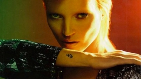 Kate Moss Gets Bowied For December Cover Of 'Vogue Paris' | StyleCaster