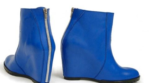 Minimarket Blue High Wedge Boot | StyleCaster