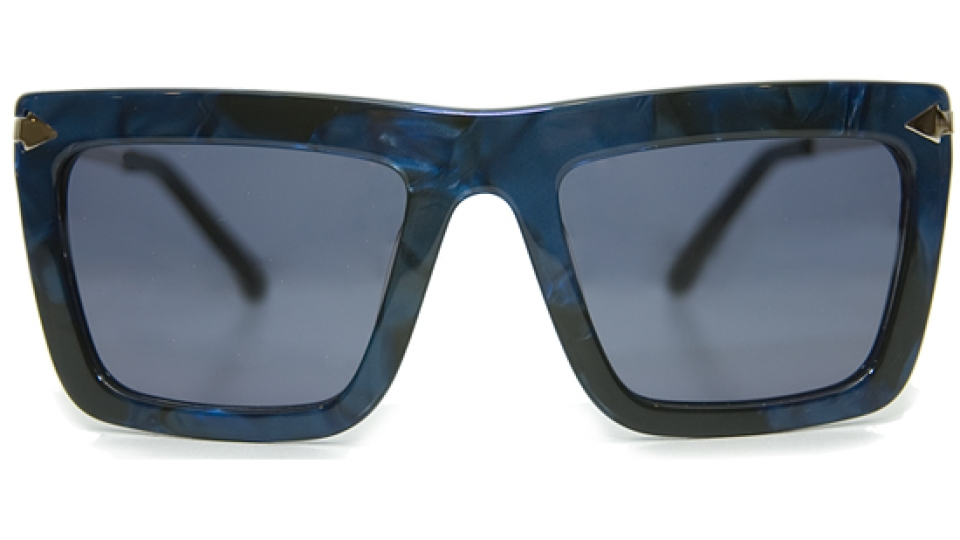 Karen Walker Derby Doomsday Blue Glasses   StyleCaster