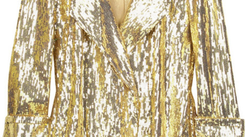 Diane von Furstenberg Chefly Sequined Blazer   StyleCaster