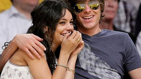 Zac and Vanessa at the Lakers Game | StyleCaster