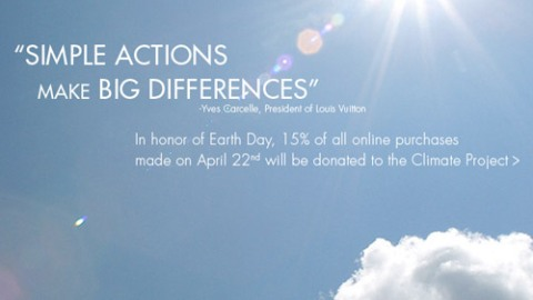 Louis Vuitton Donates A Portion Of Earth Day Sales | StyleCaster
