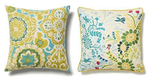 Anthropologie Glory Bower Pillow and Chameleon Pillow   StyleCaster