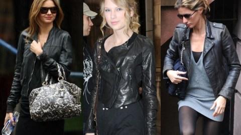 Celebrity Mictrotrend: Black Leather Jackets | StyleCaster