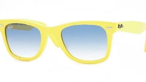 Lemon Yellow Ray Ban Wayfarers | StyleCaster