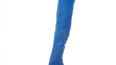 Topshop BRITANY Nubuck Thigh High Boot   StyleCaster