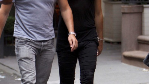 Russell Brand: Tank Top and Tight Pants | StyleCaster