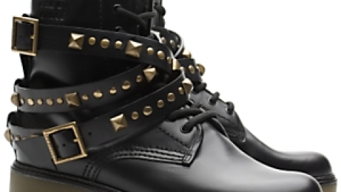 See by Chloe Studded Strap Flat Boots | StyleCaster
