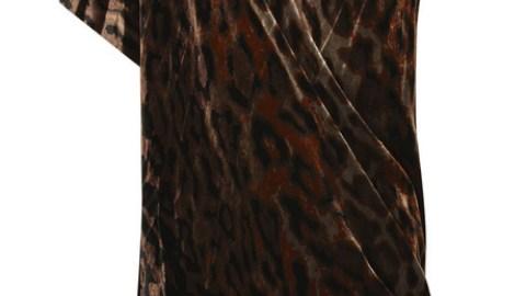 Diane von Furstenberg Velvet Asymmetric Dress | StyleCaster