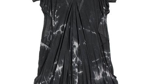 Helmut Lang Hematite Draped Dressed   StyleCaster