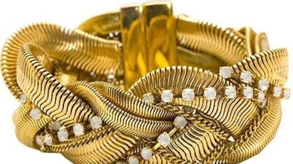 Rachel Leigh Crystal Braided Bracelet | StyleCaster