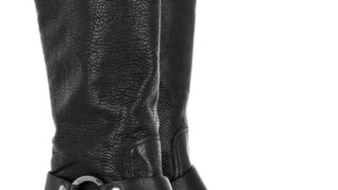 Miu Miu Leather Biker Boots | StyleCaster