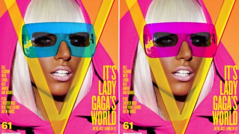 Lady Gaga Bares All in V Magazine   StyleCaster
