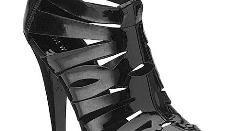Aleksander Black Cut Out Bootie | StyleCaster
