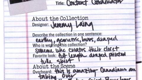 NY Fashion Week 09: Jeremy Laing | StyleCaster