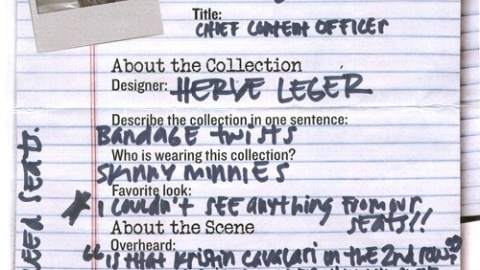 NY Fashion Week 09: Herve Leger   StyleCaster