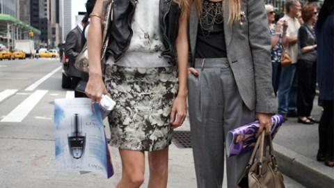 Olivia Palermo & Poppy Delevigne Fashion Week 09 | StyleCaster