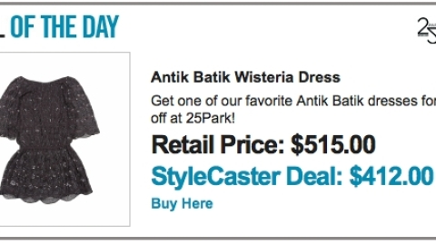 Deal of the Day Launches Today! | StyleCaster