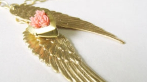 Support the Cure With the Heart Of An Angel Necklace   StyleCaster