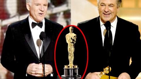 The Oscars 2009 Host Announcement: Steve Martin and Alec Baldwin   StyleCaster