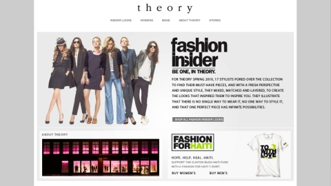 Theory Unveils Fashion Insider Campaign, Launches E-Commerce Boutique | StyleCaster