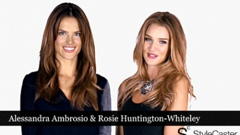 Victoria's Secret Models Alessandra Ambrosio and Rosie Huntington-Whiteley: Up Close and Personal | StyleCaster