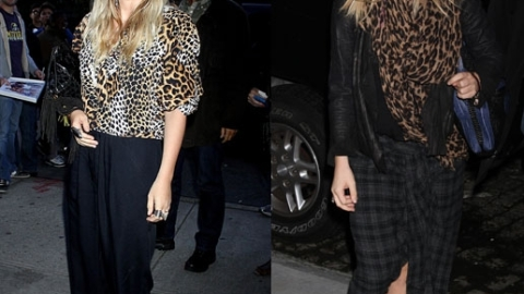 Olsen Twins Style Standoff – Mary Kate v. Ashley, Who Wore Leopard Prints Better? | StyleCaster