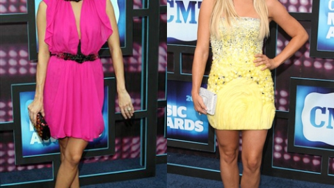 CMT Awards Style Trend – Carrie Underwood And Julianne Hough Go Bright! | StyleCaster
