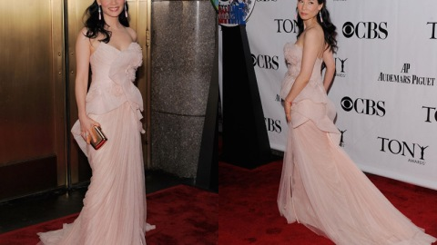 Lucy Liu Pretties Up In Marchesa At 2010 Tony Awards | StyleCaster