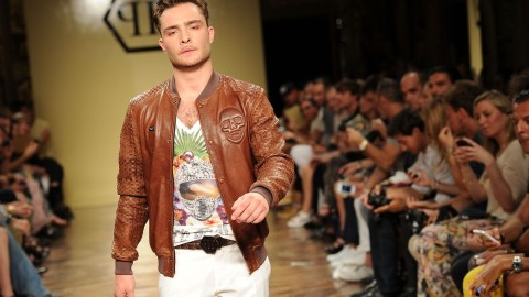Ed Westwick Makes His Big Runway Debut in Milan | StyleCaster