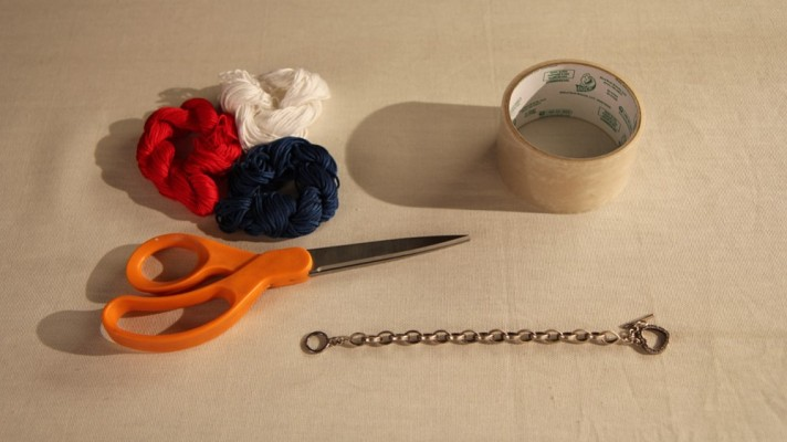 Fourth of July DIY: Add Some Color to An Old Bracelet