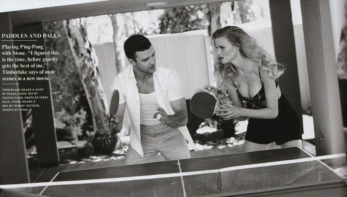See Justin Timberlake Hang Out With a Half-Naked Lara