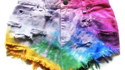 The Must-Have: Tie-Dye Neon Jean Shorts | StyleCaster