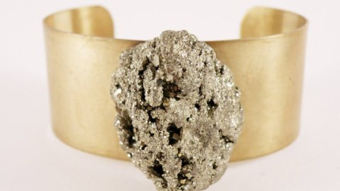 Want: Pyrite and Brass Cuff from Etsy | StyleCaster