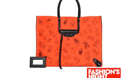 Grace Coddington Created a Custom Balenciaga Tote with Cat Illustrations for Fashion's Night Out | StyleCaster